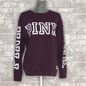 VICTORIA'S SECRET PINK Maroon Pullover Sweatshirt